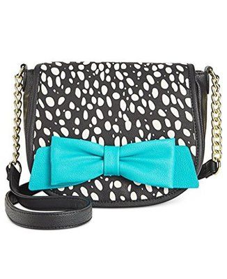 BETSEY JOHNSON FLAPOVER CROSSBODY SPOT TEAL