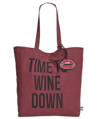 CIRCUS BY SAM EDELMAN WINE CANVAS TOTE PORT WINE