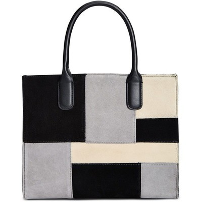 GIANI BERNINI SUDE PATCHWORK SATCHEL BLACK MULTI