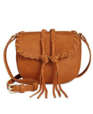 INC CALLIE SADDLE BAG COGNAC