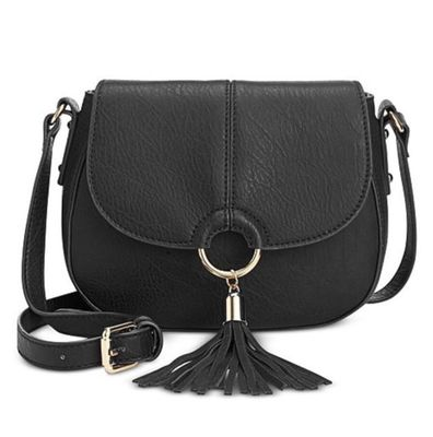 INC EMERSON SADDLE BAG BLACK