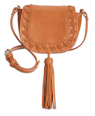 INC LOGAN MINI SADDLE BAG COGNAC