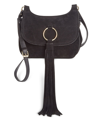 INC SIANNA SADDLE CROSSBODY BLACK