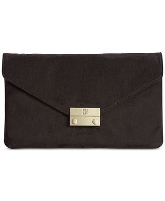 INC ZITAH FOLDOVER CLUTCH BLACK