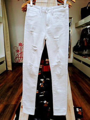 JEANS TLP RIPPED BLANCO