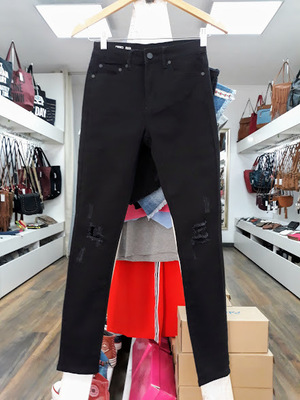 JEANS TLP RIPPED NEGRO