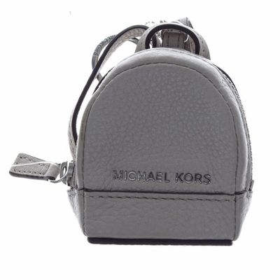 MICHAEL KORS RHEA BACKPACK LEATHER KEY CHARM CEMENT