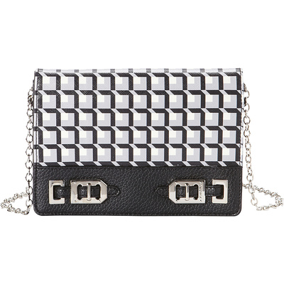 NINE WEST GLEAM TEAM CLUTCH WALLET BLACK MULTI