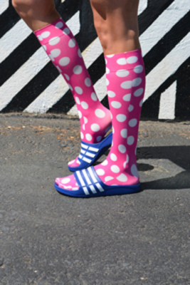 HOCSOCX PINK POLKA DOTS LINERS GIRL`S