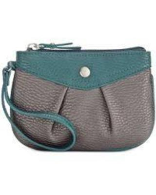 STYLE & CO HANNAH WRISTLET PEWTER STORM