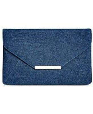 STYLE & CO LILY ENVELOPE CLUTCH BLUE DENIM