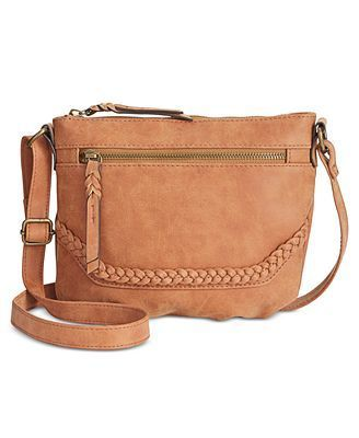 STYLE & CO MINI CROSSBODY COGNAC