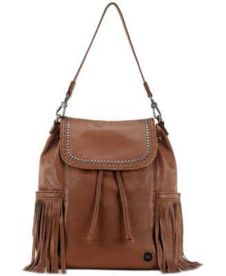 THE SAK AVALON LEATHER BACKPACK TOBACCO FRINGE