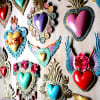 corazones de laton