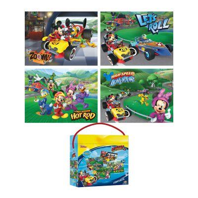PUZZLE 4 EN 1 ( 24-48-60-100 PIEZAS ) MICKEY1