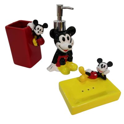 Set de Baño Mickey 3D Cerámica1
