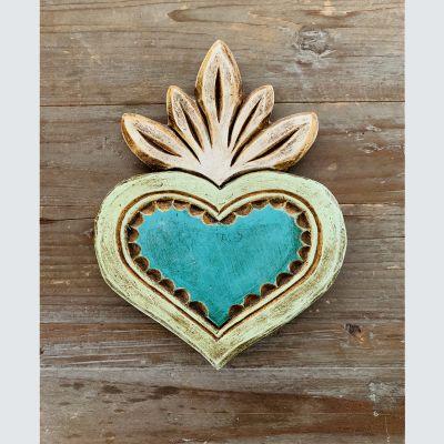 Corazón Madera Verde Agua1