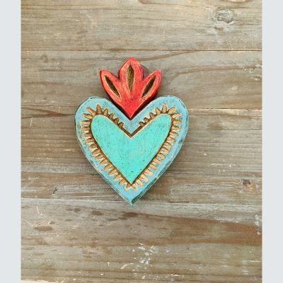 Corazón Verde Llama Roja1
