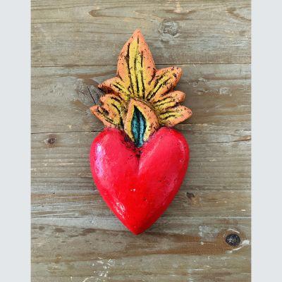 Corazón Rojo Llama Color1
