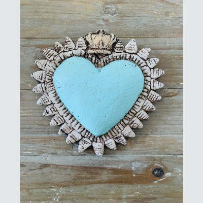 Corazón Corona Turquesa1
