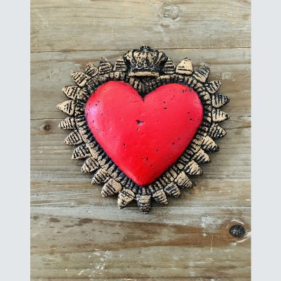 Corazón Corona Rojo1