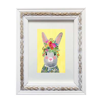 Colección Animales Flores Conejo Blanco1