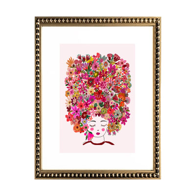 Mujer de Flores en Rosa1