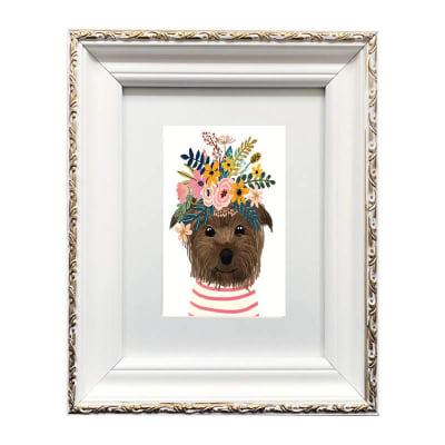 Colección Animales Flores Yorkie1