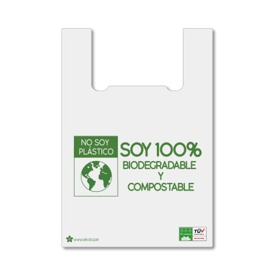 Bolsas con Asas 25 L Biodegradables y Compostables x 100 unid.1