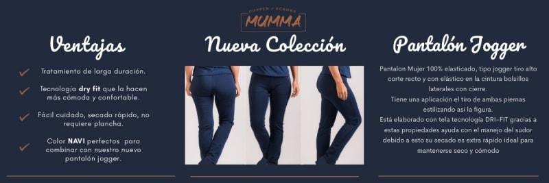 uniforme clinico pantalon mumma joggers azul navy