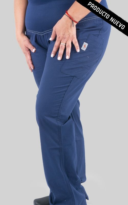 Pantalon Mujer Pretina Lycra Red Birdy Azul Navy Mumma