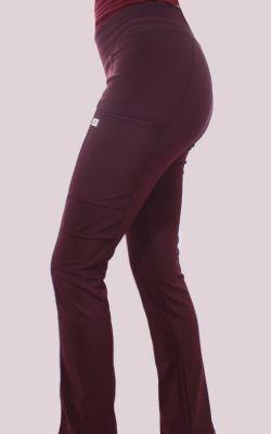 Pantalon Mujer Flex Pro M.O Liso Burdeo1