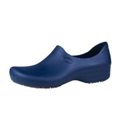 Zapato Zueco Antideslizante Cocina Clínico Azul Marino  1