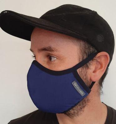 Mascarilla Antifluidos Hombre Azul Rey1