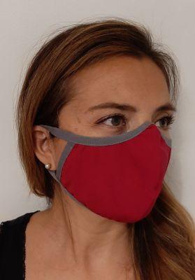 Mascarilla Antifluidos Mujer Rojo1