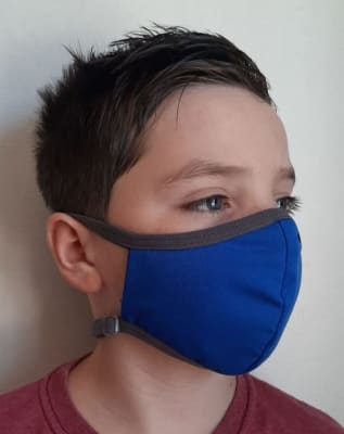 Mascarilla Antifluidos Niños Ajustable Azul Rey1