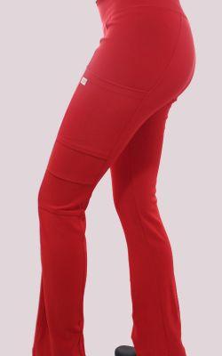 Pantalon Mujer Flex Pro M.O Liso Rojo3