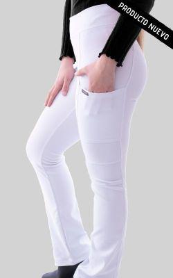 Pantalon Mujer Flex Pro M.O Liso Blanco2