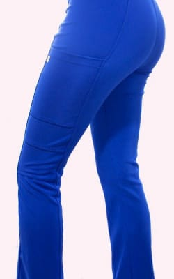 Uniforme Clínico Pantalón Mujer Flex Pro Azul Rey1