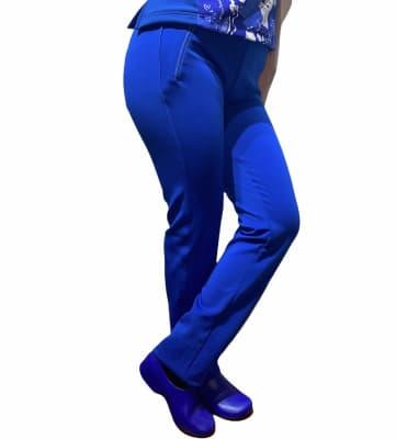 Uniforme Clínico Pantalón Mumma Joggers Spandex Azul Rey3