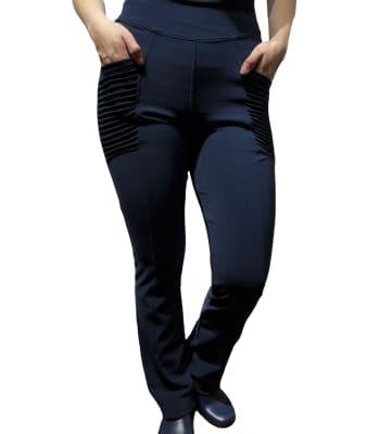 Uniforme Clínico Pantalón Mujer Elasticado Flex Alforza Azul Marino1
