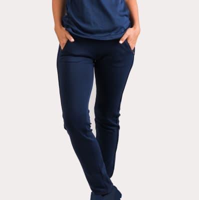 Uniforme Clínico Pantalón Mumma Joggers Azul Navy7