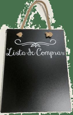 12 PIZARRA P/TIZA LISTA DE COMPRAS REVERSIBLE 26x37 CM1