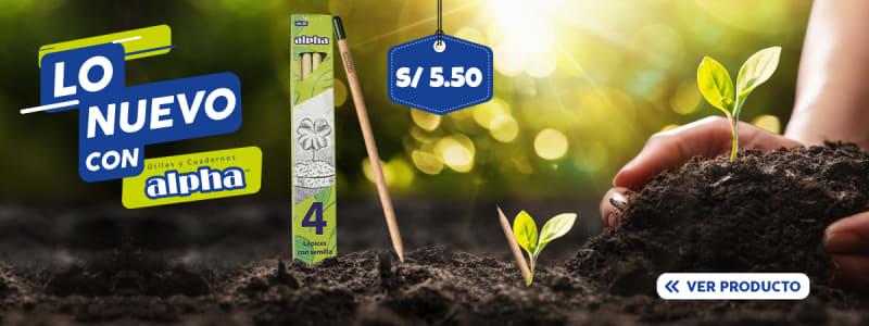 lapiz 2b ecologico c semilla x4