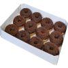 Bandeja donuts cobertura chocolate 12 un1