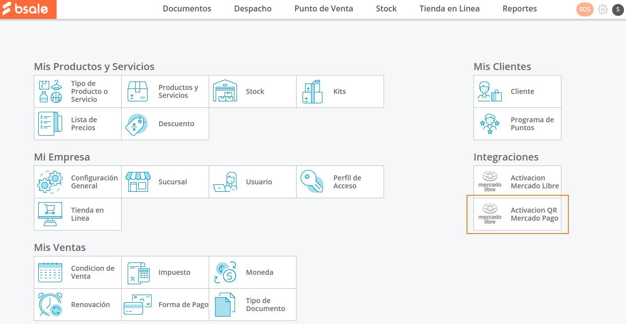 Activar Mercado Pago desde Configuración de Bsale