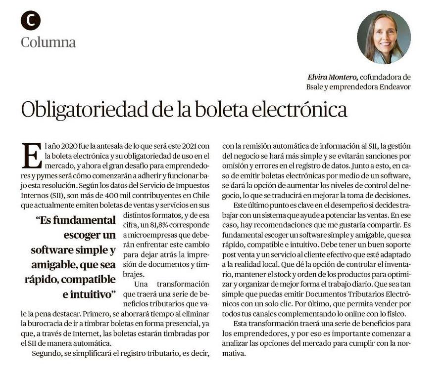 Obliegatoriedad de la boleta electrónica: Beneficios y desafíos 2021