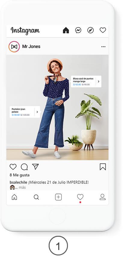 Muestra Producto en Instagram