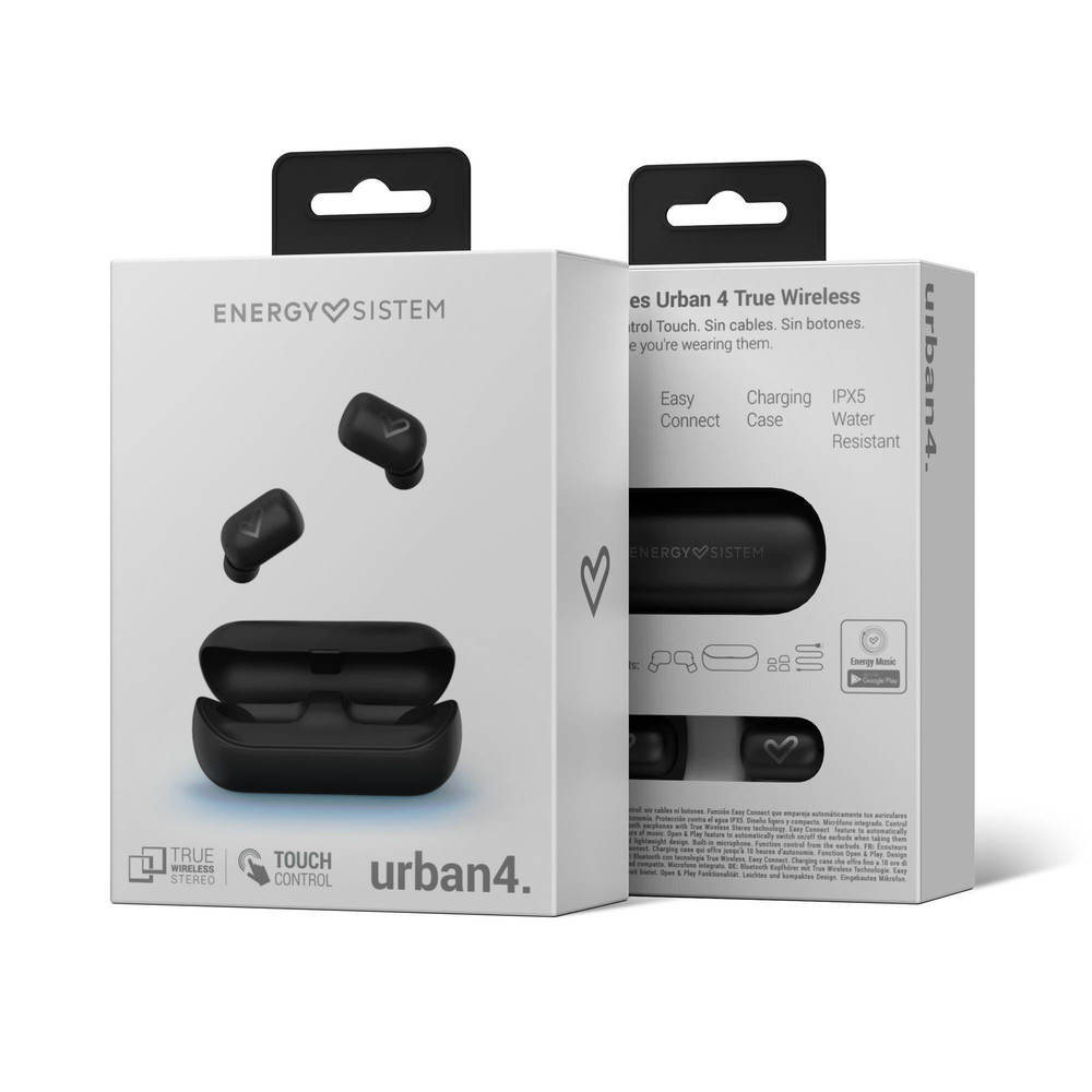 Audífono Con Bluetooth Energy Sistem Urban 4 448074 Audiomobile Cl