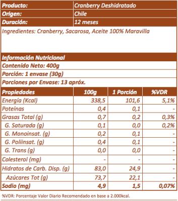 Imagen 3 - Cranberry Deshidratado
